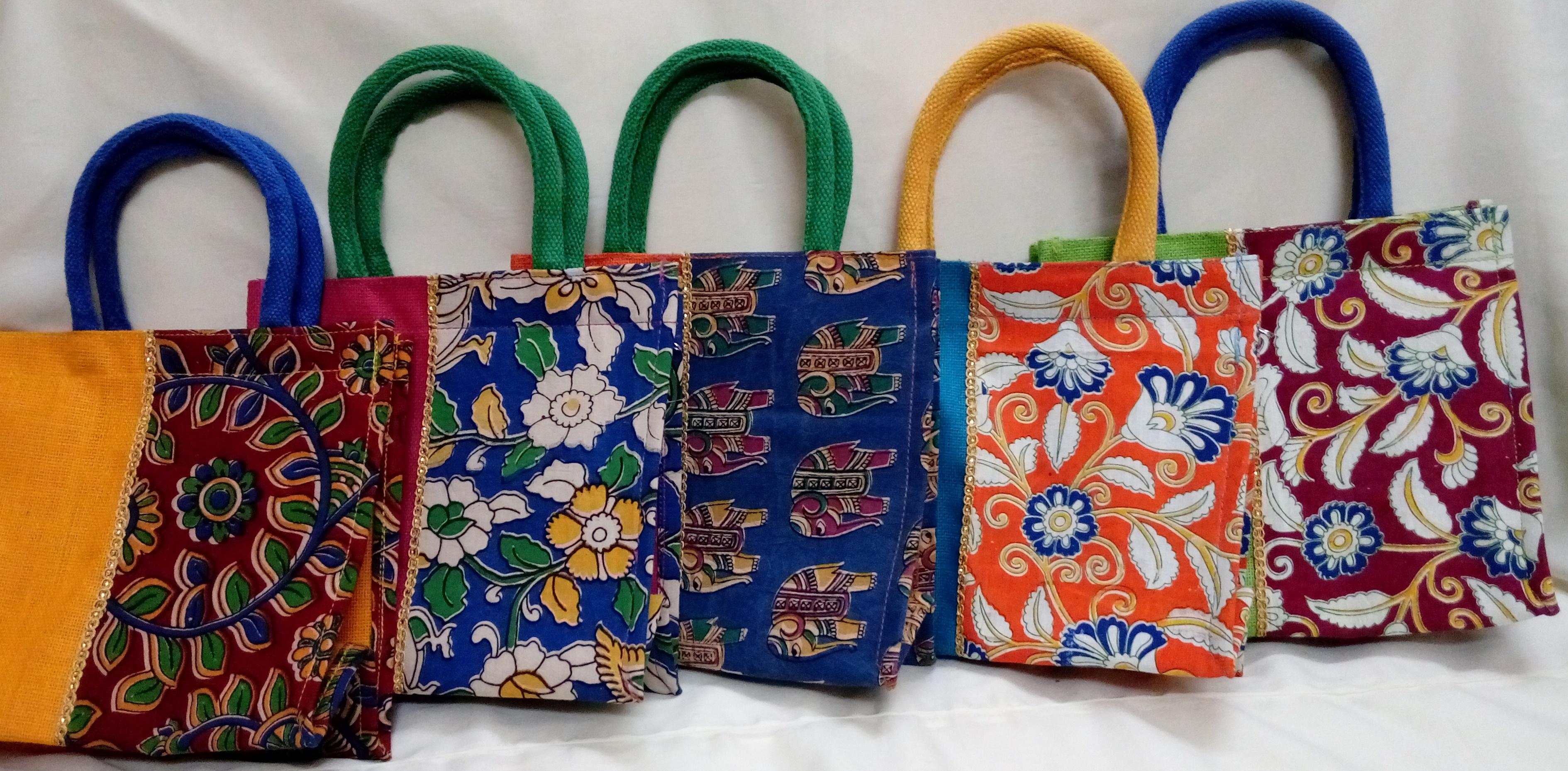 Kalamkari Jute Bags