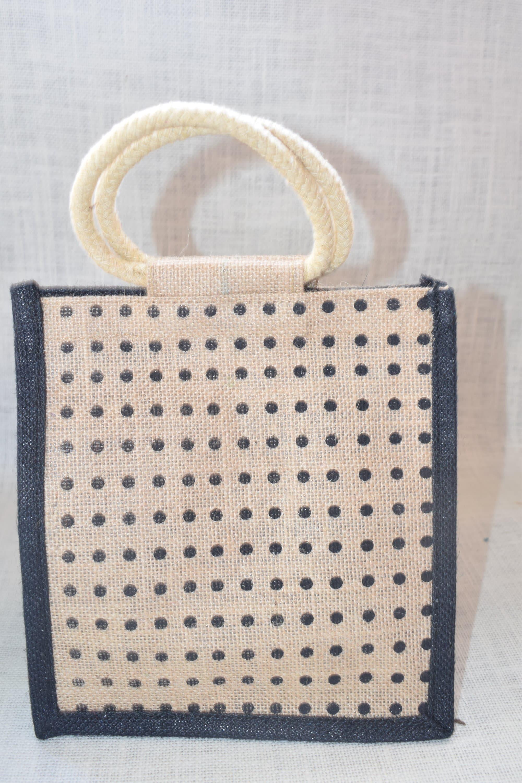 76426f747 Small Rope Lunch Bag - Saran Jute Bags